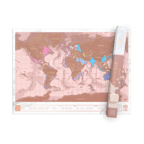 Scratch Map Roséguld