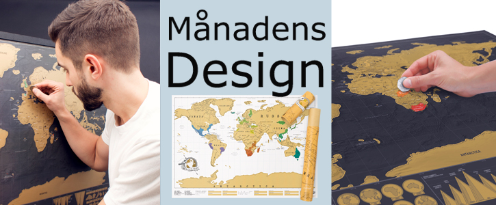 Månadens design Scratch Map
